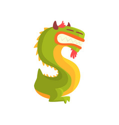 Cartoon character monster letter s vector