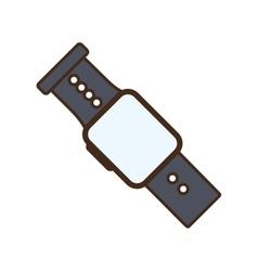 Cartoon smart watch wearable technology modern vector
