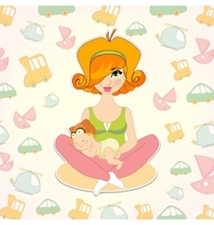 children toys Mothers day vector image