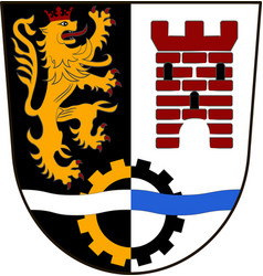 Coat of arms of schwandorf in upper palatinate of vector