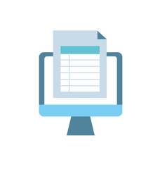 Computer document information and business vector