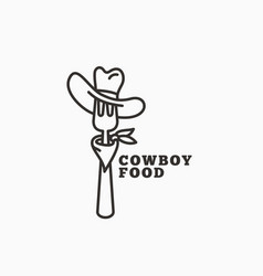 Cowboy food logo vector