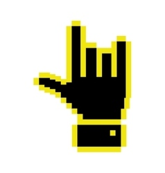 Cursor concept in form of hand shape vector