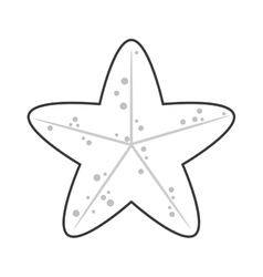 Cute starfish icon vector