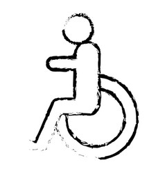 disable person sign icon vector image