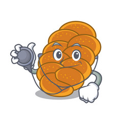 doctor challah character cartoon style vector image