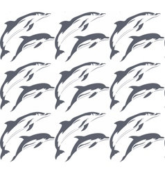 Dolphin pattern vector