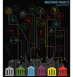 Economics and finance infographic Investment vector image