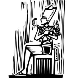 Egyptian Pharaoh vector image