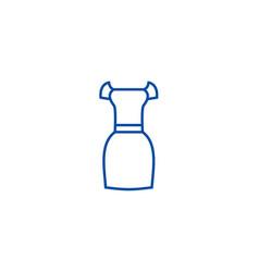elegant dress line icon concept elegant dress vector image