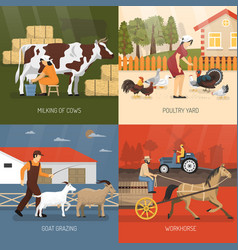 Farm animals design concept vector