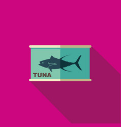 flat icon of canned tuna vector image