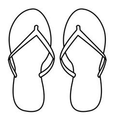 Flips flops icon vector