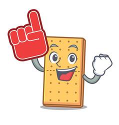 Foam finger graham cookies mascot cartoon vector