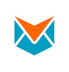 Folded envelope logo icon design template elements vector