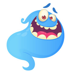 funny cartoon ghost laughing vector image