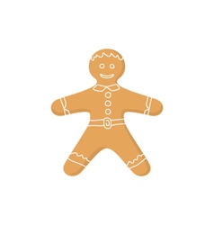 Gingerbread Man Isolated on White vector image