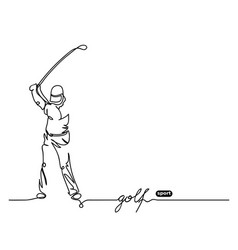 golf player simple background vector image