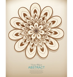 Hand-drawn abstract flowers pattern vector