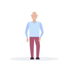 happy elderly man smiling senior grandfather vector image