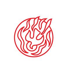 Holyspirit fire line art logo vector