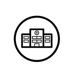 hospital line icon on a white background vector image