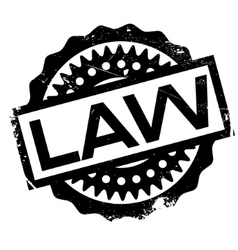 Law rubber stamp vector