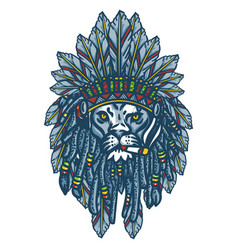 Lion head apache vector