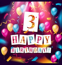 logo 3st anniversary celebration vector image