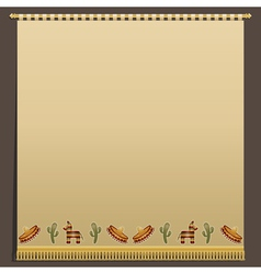Mexican wall hanging vector