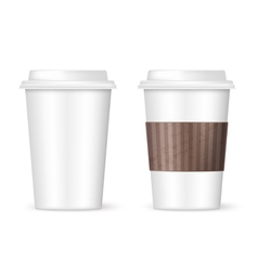modern coffee cups vector image