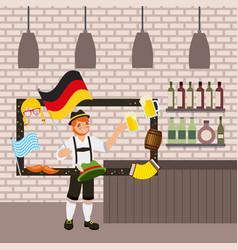 oktoberfest german celebration vector image