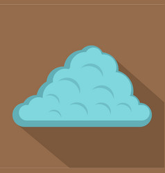 One cloud icon flat style vector