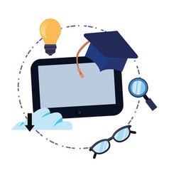 online education school vector image