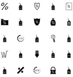 Percent icon set vector