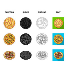 pizza with meat cheese and other filling vector image