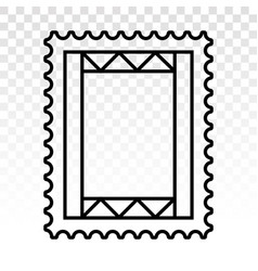 Postage stamp or letter stamp - line art icon vector
