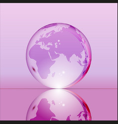 purple shining transparent earth globe vector image