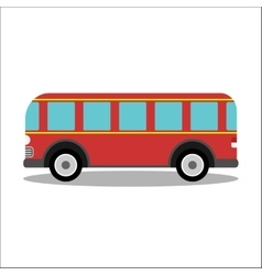 Retro city bus on a white background vector image vector image