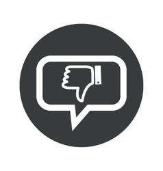 Round dislike dialog icon vector