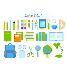 School supplies set vector