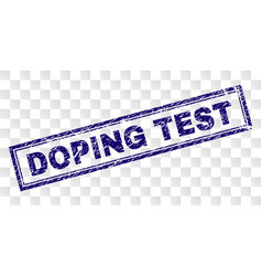 Scratched doping test rectangle stamp vector