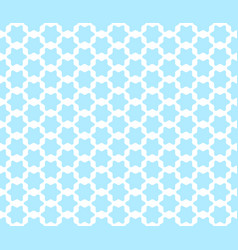 Seamless pattern with cute arabian styled blue vector