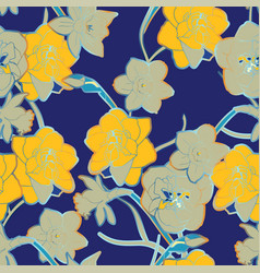 Seamless pattern with ornament twigs and vector