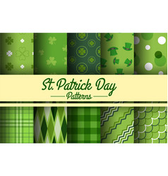 stpatricks day seamless pattern vector image