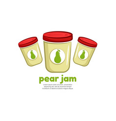 Template logo for pear jam vector