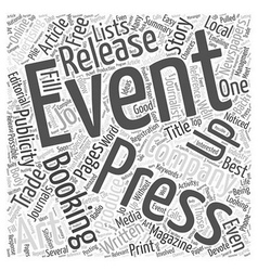 The Art Of Free Event Advertising Word Cloud vector image