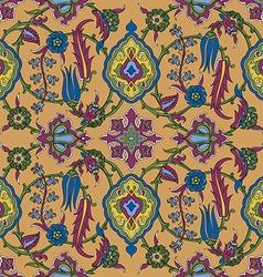 tile oriental floral ethnic pattern flower vector image
