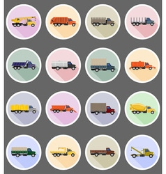 Truck flat icons 19 vector