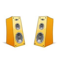 Two vector cartoon speakers vector